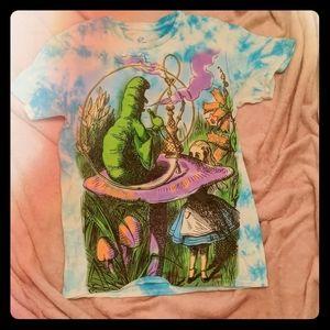 Alice in Wonderland Tie Dye Tee- Unisex, Size S